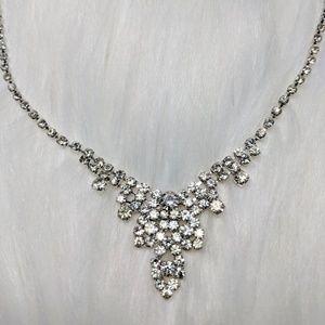 Jewelry - Rhinestone Drop Necklace